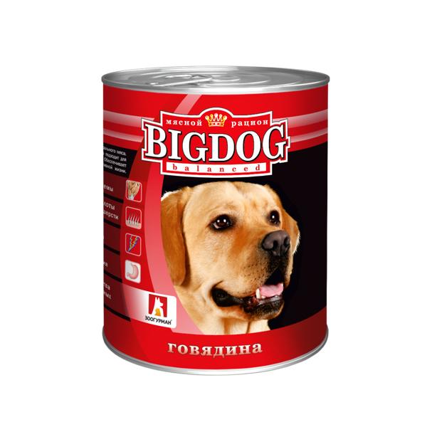 Зоогурман BigDog, консервы для собак Говядина, 850 гр