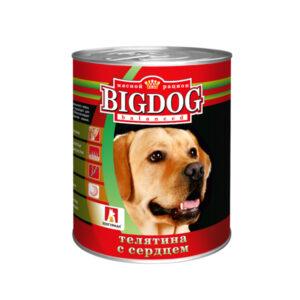 Зоогурман BigDog, консервы для собак телятина с сердцем, 850 гр