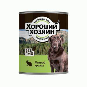 Хороший Хозяин, консервы для собак нежный кролик, 340 гр