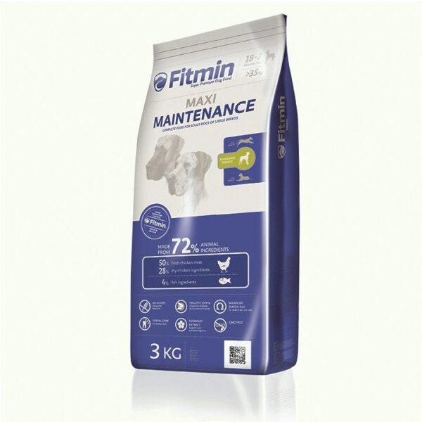 Fitmin dog Maxi Maintenance, сухой корм для взрослых собак крупных пород, 3 кг