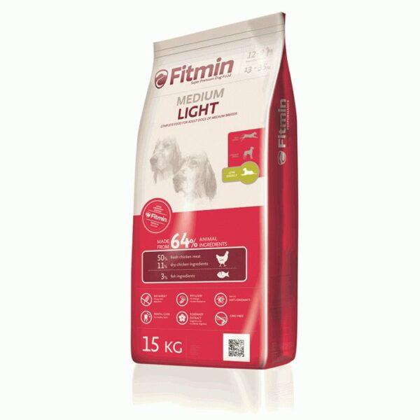 Fitmin dog Medium Light, сухой корм для собак средних пород лайт, 15 кг