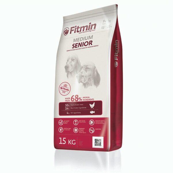 Fitmin dog Medium Senior, сухой корм для собак средних пород старше 9 лет, 15 кг