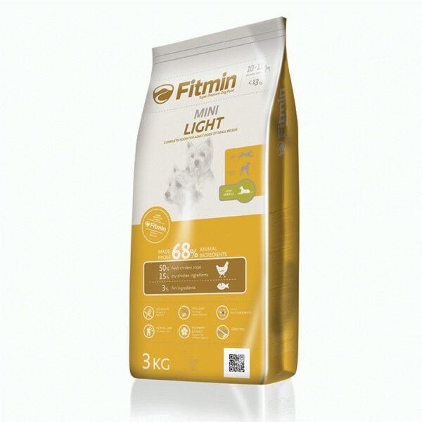 Fitmin dog Mini Light, сухой корм для взрослых собак мелких пород со сниженным содержанием энергии,3 кг