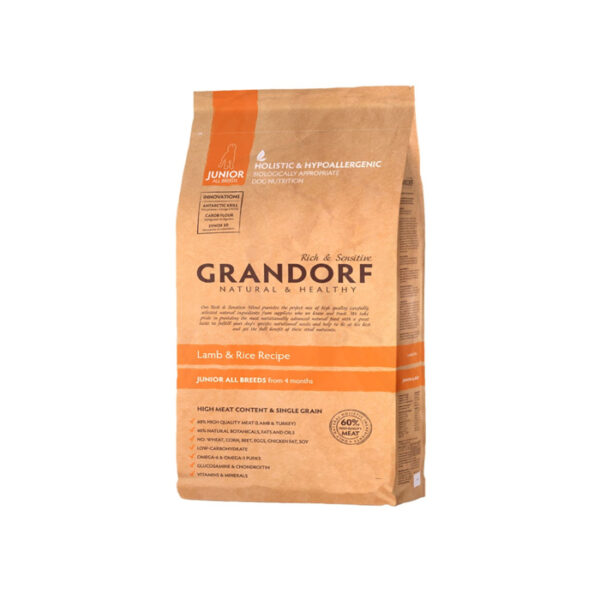 GRANDORF DOG Lamb&Rice JUNIOR, сухой корм для юниоров, 1 кг