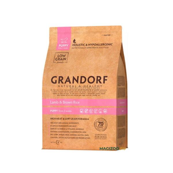 GRANDORF DOG Lamb&Rice PUPPY, сухой корм для щенков всех пород с ягненком и рисом, 1 кг