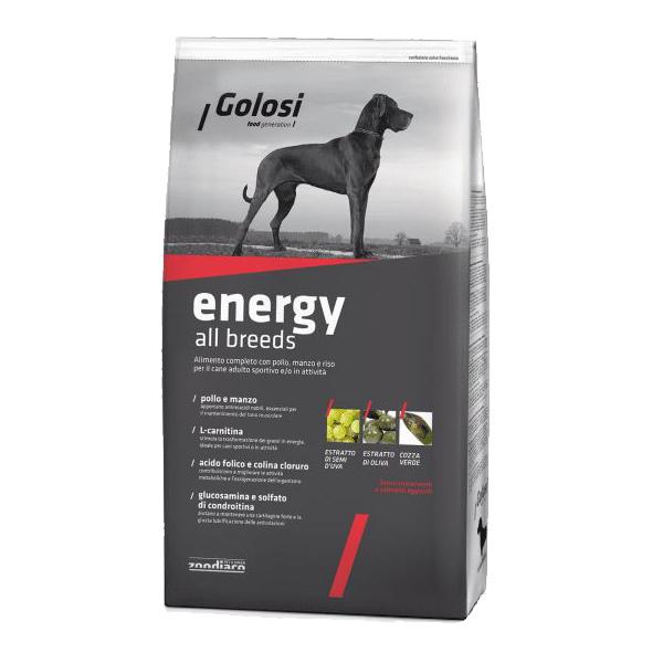 Golosi Energy, сухой корм для собак всех пород, 20 кг
