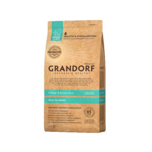 Grandorf 4Meat & Brown Rice, сухой корм для собак четыре вида мяса с бурым рисом, 3 кг