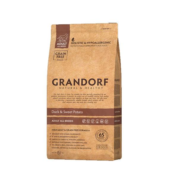 Grandorf Duck & Sweet Potato, сухой корм для собак с уткой и картофелем, 3 кг