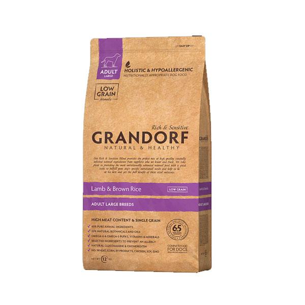 Grandorf Lamb & Rice, сухой корм для крупных собак с ягненком и рисом, 3 кг