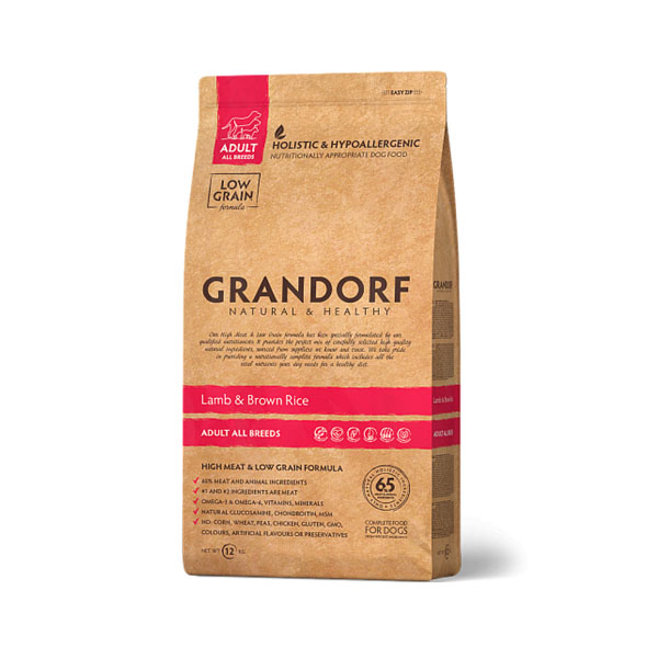 Grandorf Lamb & Rice, сухой корм для средних собак с ягненком и рисом, 1 кг