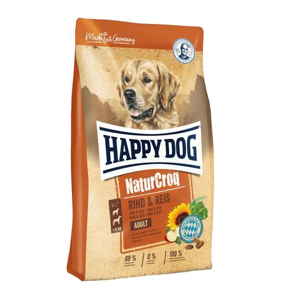 Happy Dog NaturCroq, сухой корм для собак всех пород говядина и рис, 15 кг