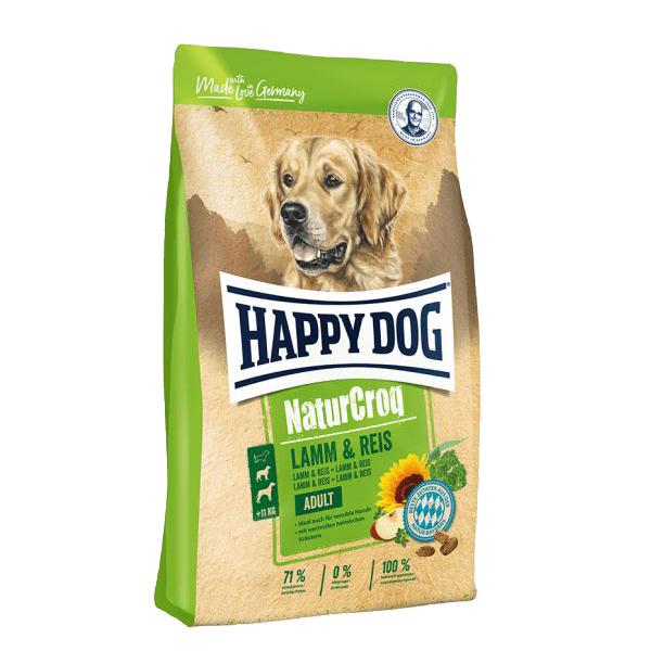 Happy Dog NaturCroq, сухой корм для собак всех пород ягненок и рис, 15 кг