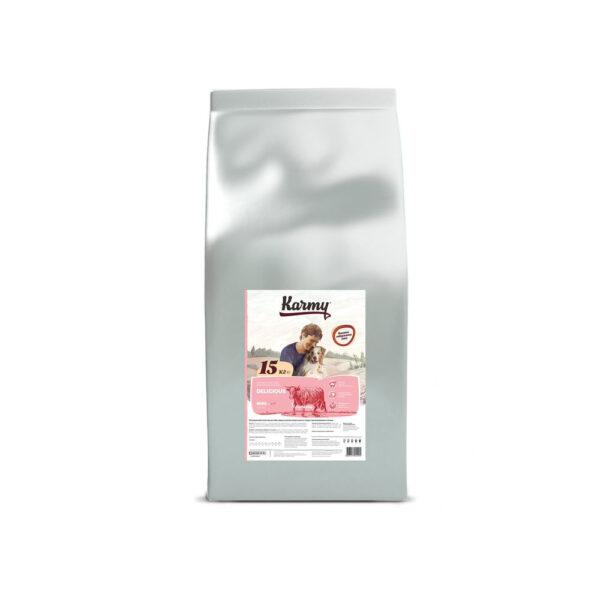 Karmy Medium Junior, сухой корм для щенков средних пород с телятиной, 15 кг