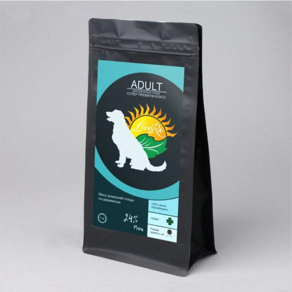 LiveRa Adult, полнорационный сухой корм для взрослых собак, 3 кг