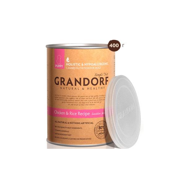 Grandorf Chicken&Rice Puppy, консерва для щенков КурицаРис 400 гр
