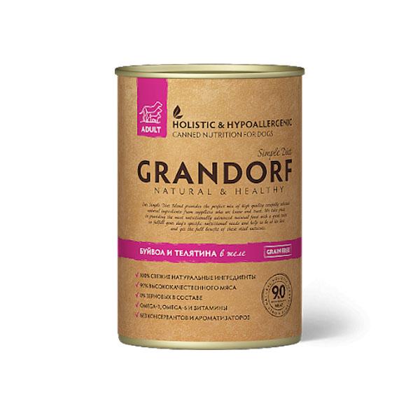 Grandorf BUFFALO & TURKEY, консервы буйвол с индейкой для собак, 400 гр