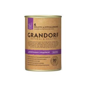 Grandorf Консервы для собак всех пород Дикий кабан с Индейкой, 400 гр