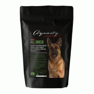 Династия, сухой корм для собак всех пород с мясом индейки, 1 кг