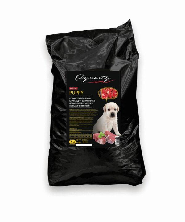 Династия сухой корм для щенков всех пород говядина-рубец (гипоаллергенный), 7 кг