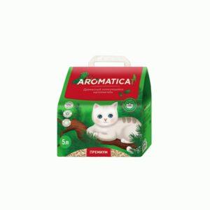 Древесный комкующийся наполнитель для кошачьих туалетов Aromaticat Premium, 5 л