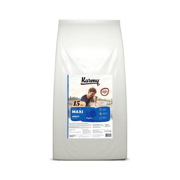 Karmy Maxi Adult, сухой корм для взрослых собак крупных пород с индейкой, 15 кг