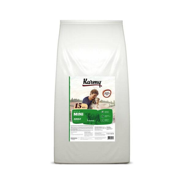 Karmy Mini Adult, сухой корм для взрослых собак мелких пород с телятиной, 15 кг