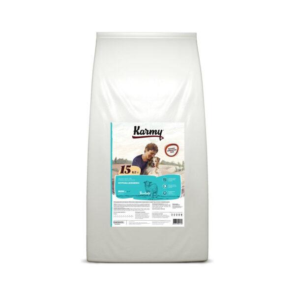 Karmy Mini Hypoallergenic, сухой корм для взрослых собак мелких пород при аллергии с ягненком, 15 кг