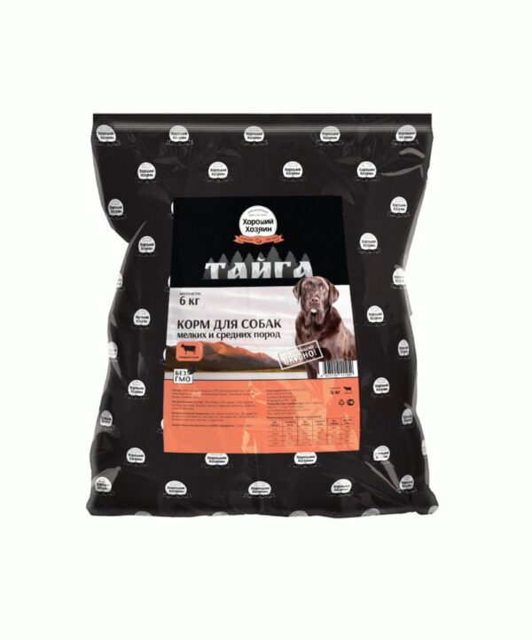 Хороший Хозяин, сухой корм для взрослых собак мелких и средних пород, 6 кг