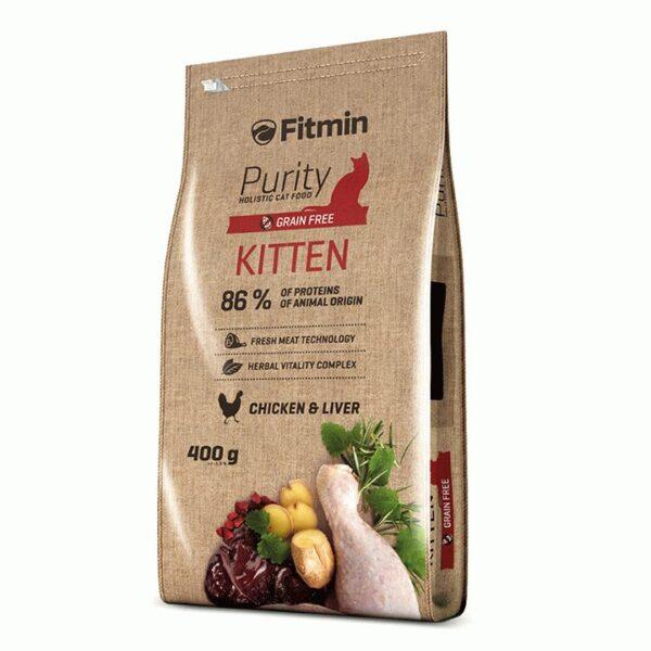 Fitmin Cat Purity, беззерновой корм для котят до 12 месяцев беременных и кормящих кошек, 400 гр