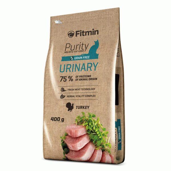 Fitmin Cat Purity Urinary, беззерновой корм для взрослых кошек способствующий правильной работе мочевой системы, 400 гр