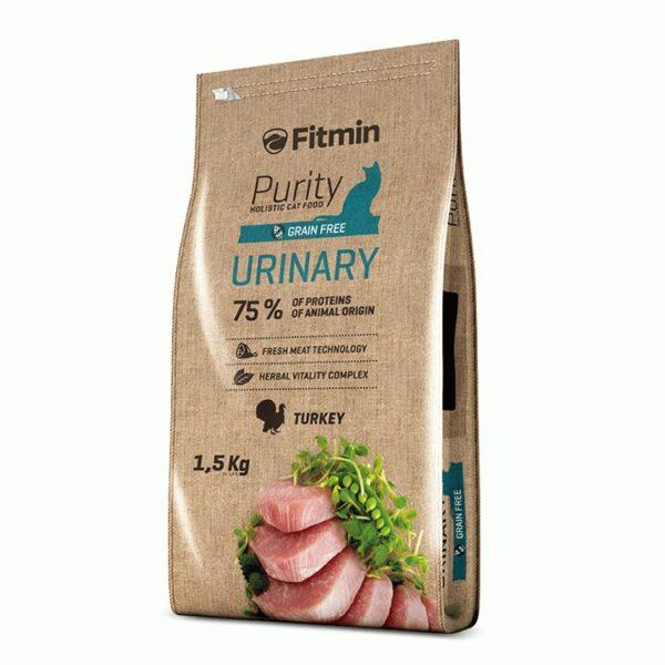 Fitmin Cat Purity Urinary, беззерновой корм для взрослых кошек способствующий правильной работе мочевой системы, 1.5 кг