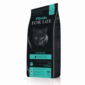 Fitmin cat For Life Castrate, корм для взрослых кошек с избыточным весом, кастрированных и стерилизованных, 400 гр