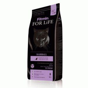 Fitmin cat For Life Hairball, корм для взрослых длинношерстных кошек, 8 кг