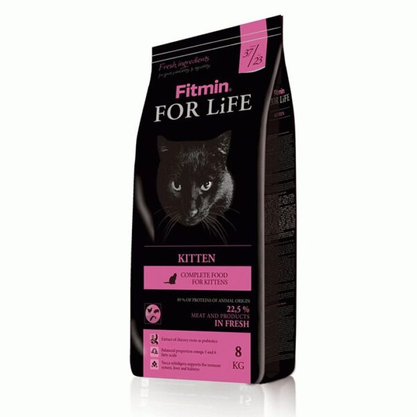 Fitmin cat For Life Kitten, корм для котят, 8 кг