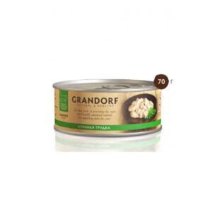 GRANDORF, консервы для кошек куриная грудка в собственном соку, 70 гр