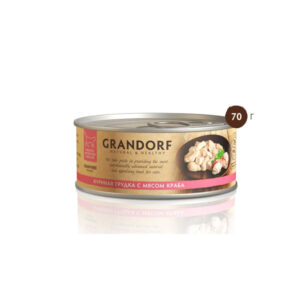 Grandorf, консервы для кошек грудка с мясом краба, 70 гр