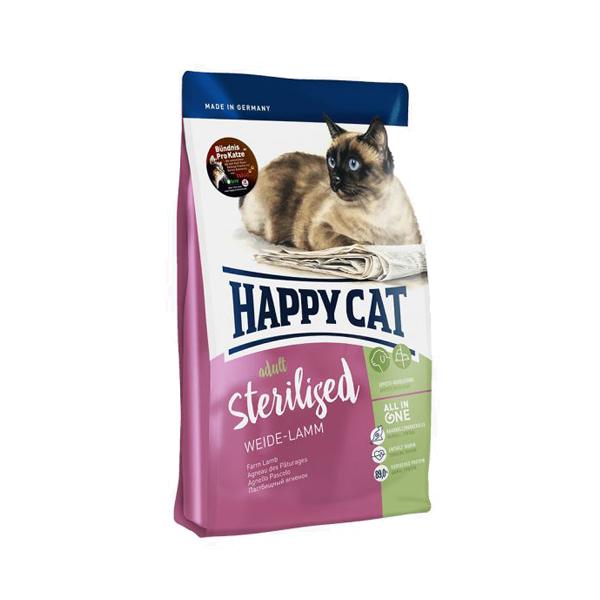 Happy Cat Adult Sterilised, пастбищный ягненок сухой корм для стерилизованных кошек, 10 кг