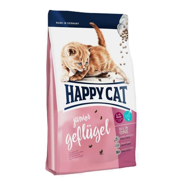 Happy Cat Junior, птица сухой корм для кошек, 10 кг
