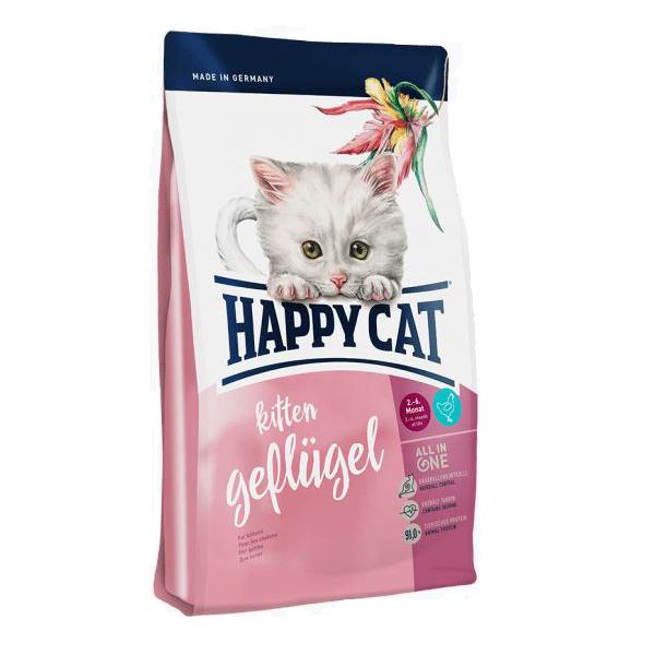 Happy Cat Kitten Птица, сухой корм для котят, 4 кг
