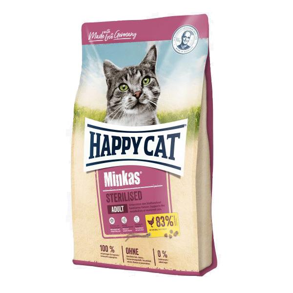 Happy Cat Minkas Sterilised, сухой корм для стерилизованных кошек, 10 кг