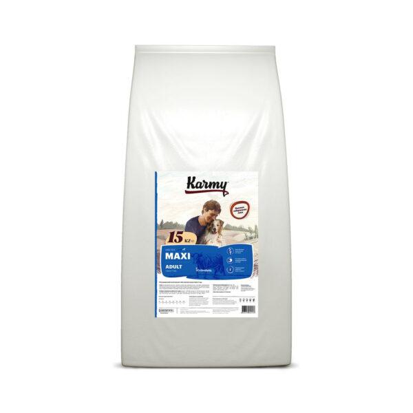 Karmy Maxi Adult, сухой корм для взрослых собак крупных пород с телятиной, 15 кг