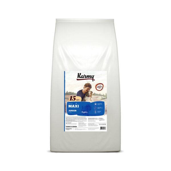 Karmy Maxi Junior, сухой корм для щенков крупных пород с индейкой, 15 кг