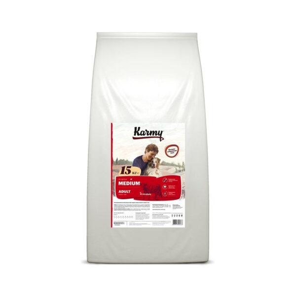 Karmy Medium Adult, сухой корм для взрослых собак средних пород с телятиной, 15 кг