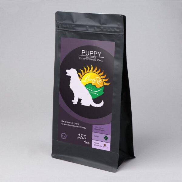 LiveRa Puppy, полнорационный сухой корм для щенков, 15 кг