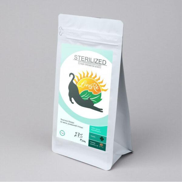LiveRa Sterilized, полнорационный сухой корм для стерилизованных кошек, 10 кг