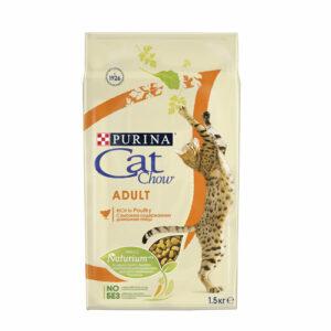 Purina Cat Chow Adult, корм для взрослых кошек, с домашней птицей, 15 кг