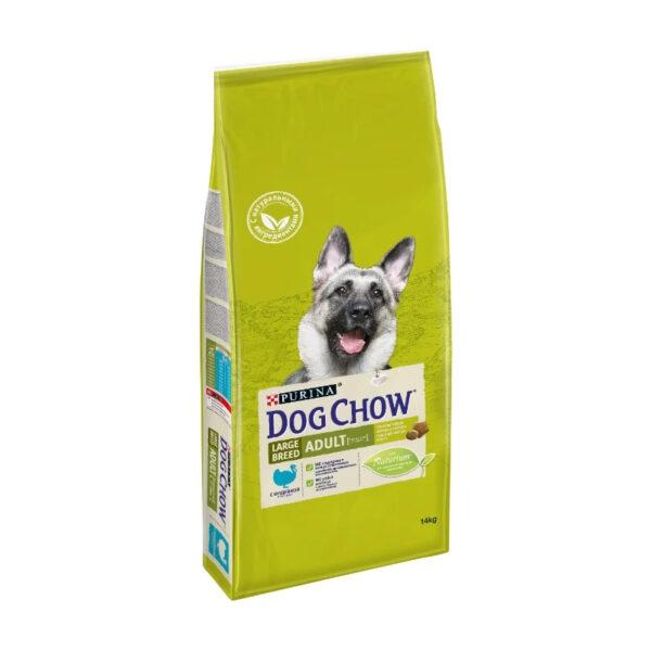 Purina Dog Chow, сухой корм для взрослых собак крупных пород индейка, 14 кг
