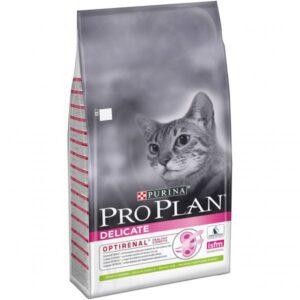 Purina Pro Plan Delicate LAMB, корм для кошек с чувствительным пищеварением и привередливых к еде с ягненком, 10 кг