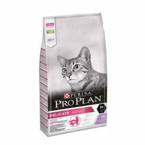 Purina Pro Plan Delicate Turkey, корм для кошек с чувствительным пищеварением и привередливых к еде с индейкой, 10 кг