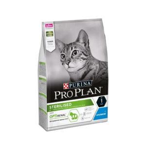 Purina Pro Plan Sterilised Rabbit, корм для взрослых кастрированных и стерилизованных кошек с кроликом, 3 кг